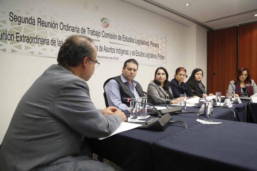 La senadora del PAN Mayuli Latifa Martínez Simón, durante segunda reunión Ordinaria de Trabajo Comisión de Estudios legislativos, Primera.