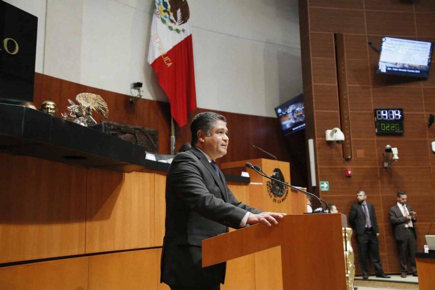 Intervención en tribuna del senador Víctor Oswaldo Fuentes Solís, al participar en la discusión de un dictamen de las Comisiones Unidas de Puntos Constitucionales y de Estudios Legislativos Segunda con proyecto de decreto por el que se reforma el artículo 19 de la Constitución Política de los Estados Unidos Mexicanos.