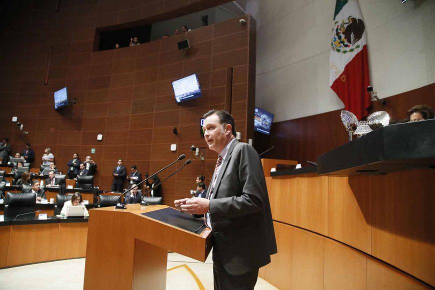 Intervención en tribuna del senador Mauricio Kuri González, al participar en la discusión de un dictamen de las Comisiones Unidas de Puntos Constitucionales y de Estudios Legislativos Segunda con proyecto de decreto por el que se reforma el artículo 19 de la Constitución Política de los Estados Unidos Mexicanos.