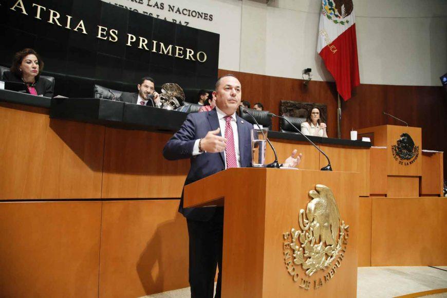Intervención en tribuna del senador José Erandi Bermúdez Méndez, al presentar reservas al dictamen de las Comisiones Unidas de Puntos Constitucionales y de Estudios Legislativos Segunda que contiene proyecto de decreto por el que se reforma el artículo 19 de la Constitución Política de los Estados Unidos Mexicanos.