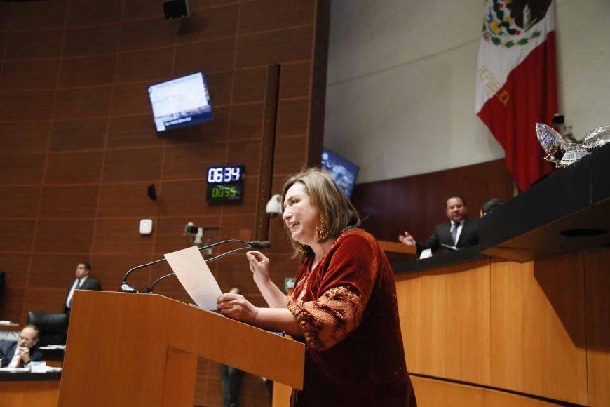 Senadora Xóchitl Gálvez Ruiz presenta reservas al dictamen por el que se reforma el artículo 19 de la Constitución
