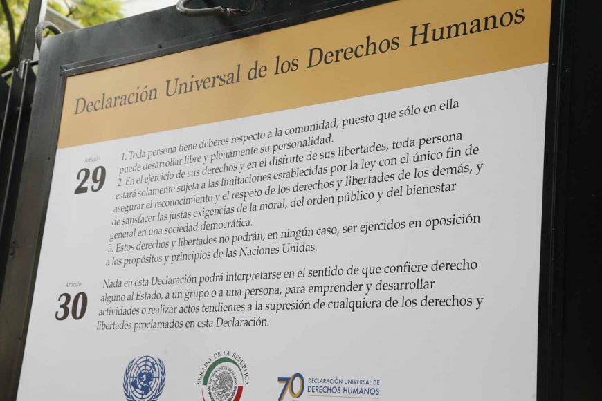 """Intervención de la senadora Kenia López Rabadán en la inauguración de la exposición fotográfica """"Los Derechos Humanos"""""""