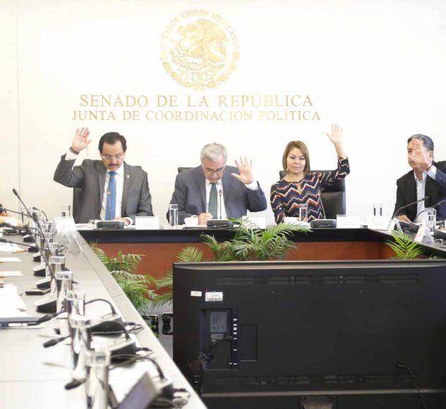 La senadora Minerva Hernández Ramos, secretaria de la Comisión de Educación , al participar en la segunda reunión ordinaria.