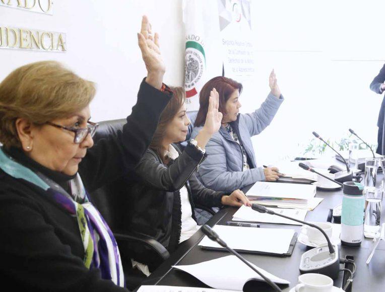 La senadora Josefina Vázquez Mota, al presidir la segunda reunión ordinaria de la Comisión de Derechos de la Niñez y de la Adolescencia