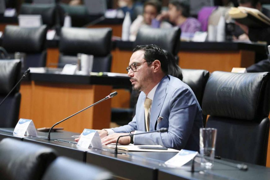 Senador Raúl Paz Alonzo al intervenir desde su escaño