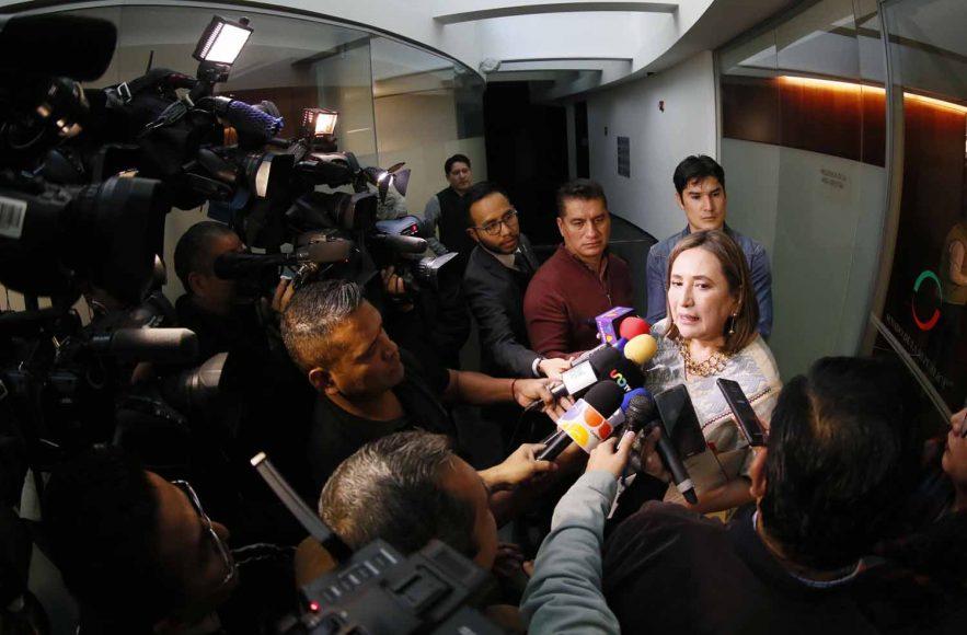 Entrevista a la senadora Xóchitl Gálvez Ruiz, al término de la reunión con la titular de la Secretaría de la Función Pública
