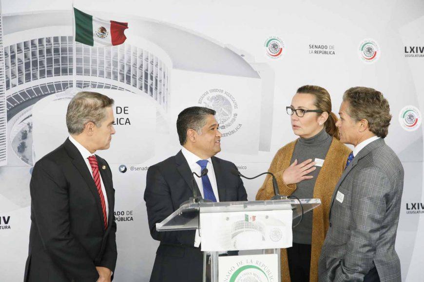 Conferencia ofrecida por el senador del PAN Víctor Fuentes Solís