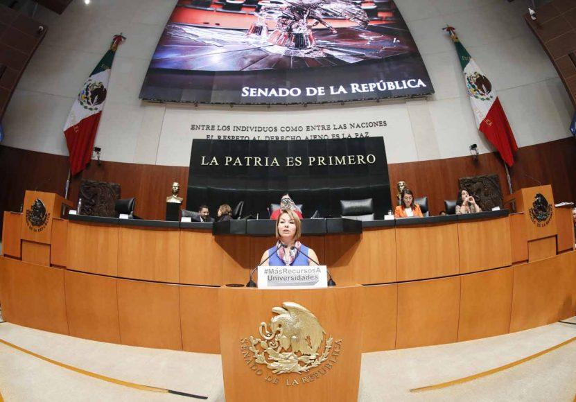 Intervención en tribuna de la senadora Minerva Hernández Ramos para presentar dictamen de la Comisión de Educación, el que exhorta a la Comisión de Presupuesto y Cuenta Pública de la Cámara de Diputados a considerar en la discusión del proyecto de Presupuesto de Egresos de la Federación para 2019, el presupuesto de las universidades públicas del país y sea, en lo posible, incremental.