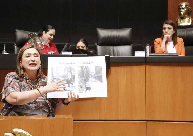 Intervención en tribuna de la senadora Xóchitl Gálvez Ruiz al participar en la discusión de un dictamen de la Comisión de Zonas Metropolitanas y Movilidad, el que contiene punto de acuerdo sobre la problemática del abasto suficiente de agua, la superación de las inundaciones, así como el reciclamiento del agua de lluvia en el Valle de México, particularmente en la Ciudad de México.