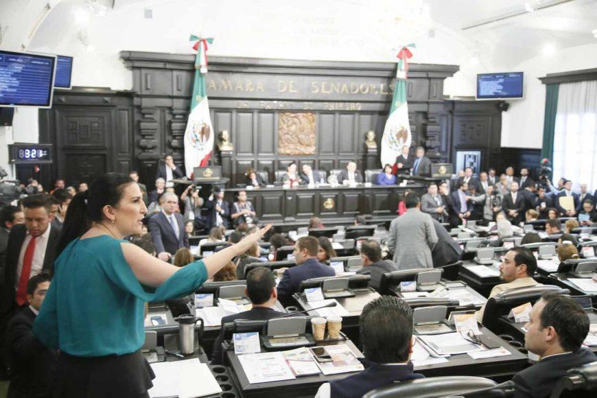 Intervención desde su escaño de la senadora Kenia López Rabadán para referirse al discurso de la presidenta de la Comisión de la Medalla Belisario Domínguez, durante la sesión solemne