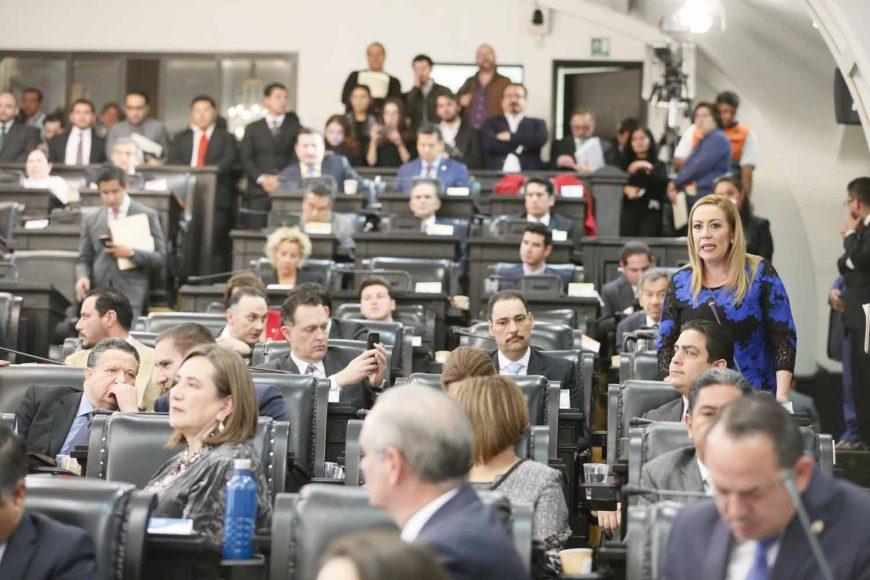 Intervención desde su escaño de la senadora Alejandra Noemí Reynoso Sánchez para referirse al discurso de la presidenta de la Comisión de la Medalla Belisario Domínguez, durante la sesión solemne.