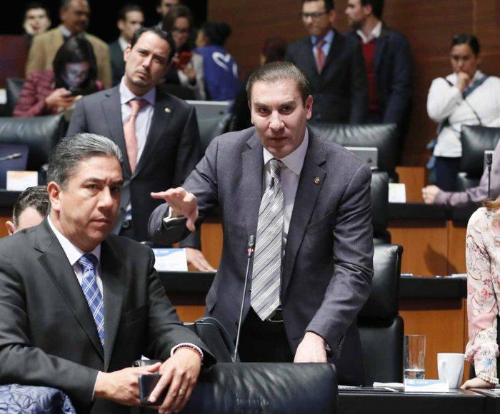 Senador Rafael Moreno Valle al intervenir desde su escaño