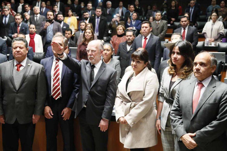Senadores del PAN durante la toma de protesta del Ministro de la Suprema Corte de Justicia de la Nación, doctor Juan Luis González Alcántara Carrancá.