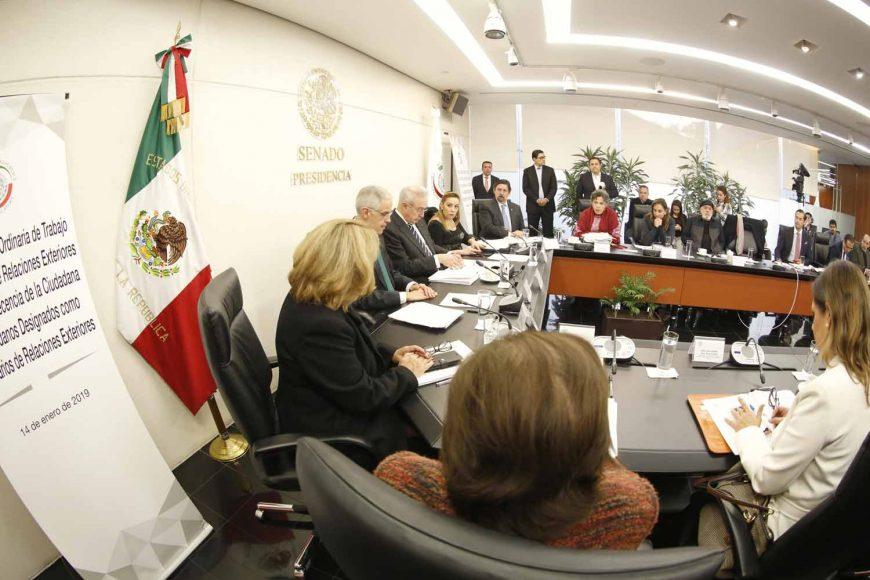 Pregunta de la senadora Alejandra Noemí Reynoso Sánchez en la comparecencia de Julián Ventura Valero, designado como subsecretario de Relaciones Exteriores, ante la Comisión de Relaciones Exteriores.