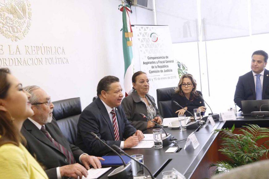 Participación del senador Damián Zepeda Vidales, durante la reunión extraordinaria de la Comisión de Justicia para las comparecencias de los aspirantes a la Fiscalía General de la República