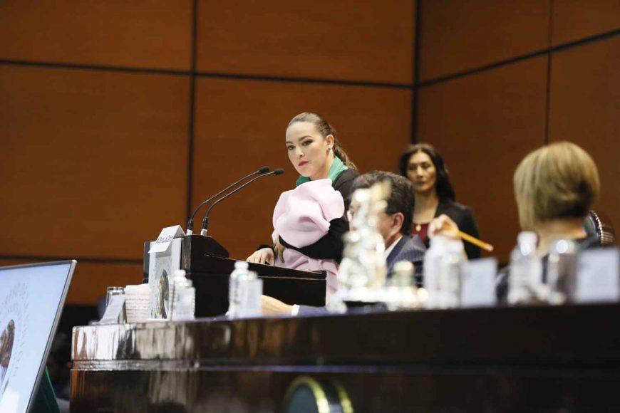 Senadora Martha Cecilia Márquez Alvarado, al participar en la discusión de la agenda política respecto a la reunión de trabajo de la Tercera Comisión de la Comisión Permanente con los titulares de Pemex, Octavio Romero Oropeza, y de la Secretaría de Energía, Norma Rocío Nahle García