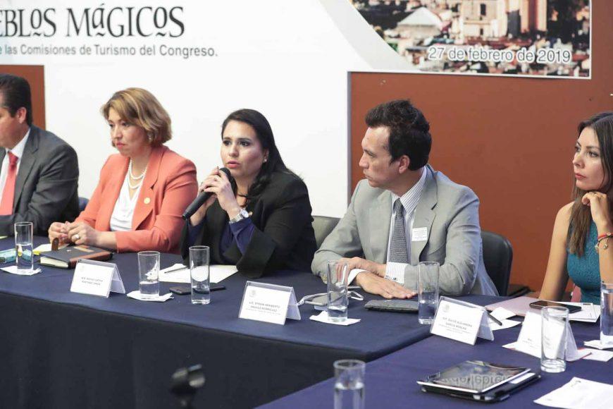 Intervención de la senadora Mayuli Latifa Martínez Simón durante la reunión de trabajo de la Comisión de Turismo con la Red Nacional de Alcaldes de Pueblos Mágicos e integrantes de la Comisión de Turismo de la Cámara de Diputados.