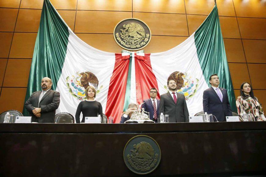 Senadores del PAN, durante la Clausura de la Comisión Permanente del Congreso de la Unión.