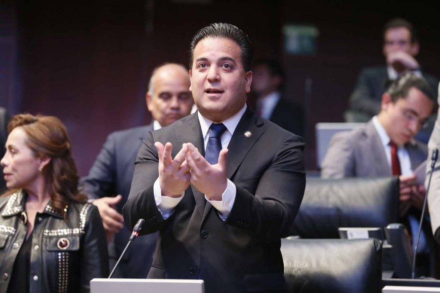 Intervención desde su escaño del senador Damián Zepeda Vidales