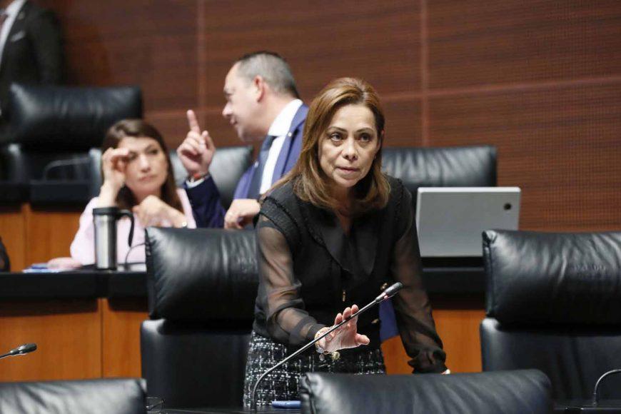 Senadora Josefina Vázquez Mota, al intervenir desde su escaño