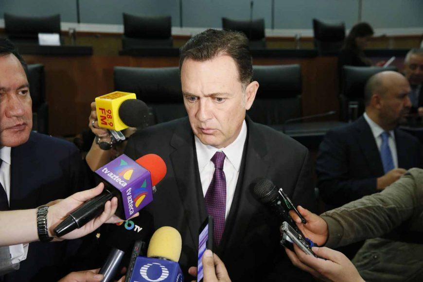 Entrevista al coordinador de los senadores del PAN, Mauricio Kuri González, al término de la instalación de la Comisión Especial para dar seguimiento a los hechos ocurridos el 24 de diciembre de 2018 en el estado de Puebla.