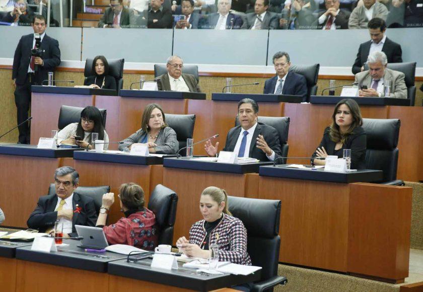 """Intervención del senador Marco Antonio Gama Basarte, al preguntar a los ponentes del Bloque 1 de la Mesa de Trabajo 4, """"Federalismo y seguridad pública"""", en el marco del Parlamento Abierto para el tema de la Guardia Nacional."""