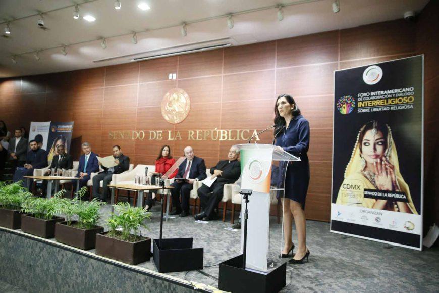 Intervención de la senadora Kenia López Rabadán en el Foro Interamericano de Colaboración y Diálogo Interreligioso sobre Libertad Religiosa.