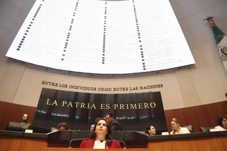 Intervención de la senadora Mayuli Latifa Martínez Simón, al fundamentar un dictamen de las comisiones unidas de Marina y Estudios Legislativos Primera que expide la Ley de Educación Naval.