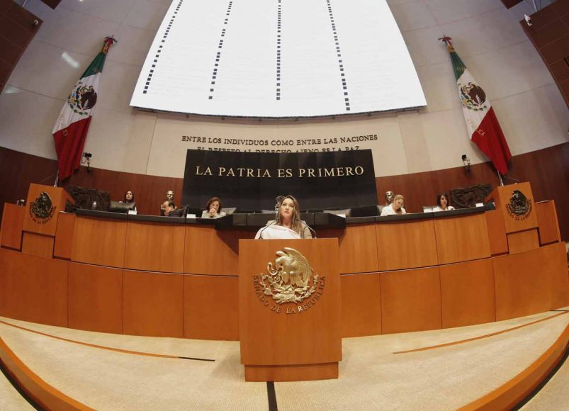 Intervención en tribuna de la senadora Martha Cecilia Márquez Alvarado para referirse a un dictamen de la Comisión de Salud, el que contiene punto de acuerdo por el que se exhorta a las Secretarías de Salud, de Medio Ambiente y Recursos Naturales; y de Turismo, implementar una estrategia para disminuir el consumo de tabaco en las playas mexicanas.