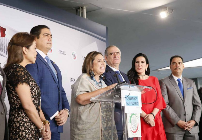 Senadores del PAN ofrecieron una conferencia de prensa