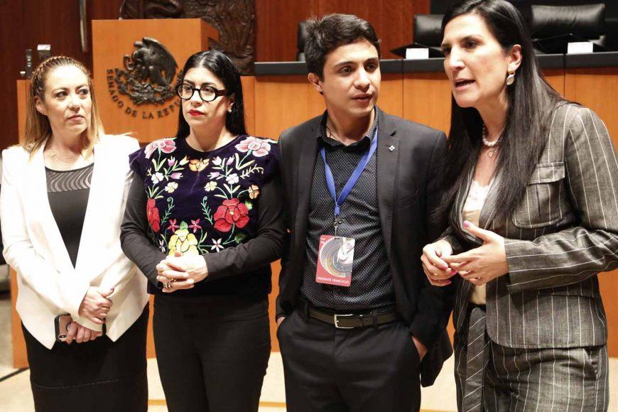 Senadora Kenia López Rabadán desde su escaño para referirse a la visita de Lorent Saleh, activista venezolano