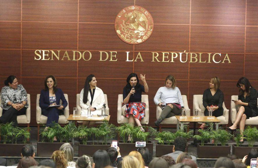"Foro ""Conversatorio"" que preside la senadora del PAN Kenia López Rabadán"