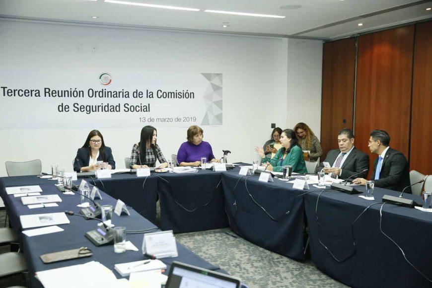 Participación de la senadora Mayuli Latifa Martínez Simón, durante la reunión de trabajo de la Comisión de Seguridad Social.