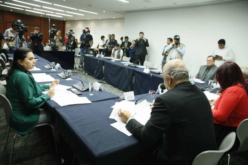 Participación de la senadora Mayuli Latifa Martínez Simón, durante la reunión ordinaria de trabajo de la Comisión de Relaciones Exteriores Asia-Pacífico-África.