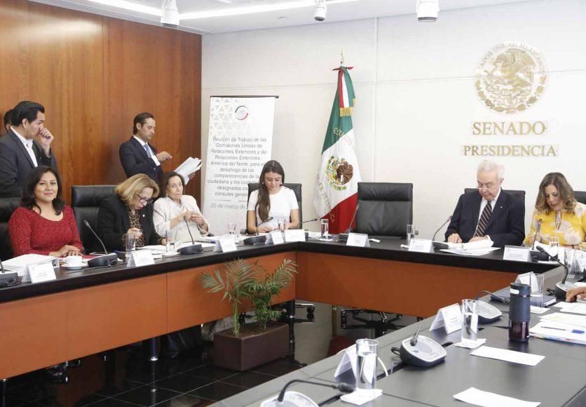 Intervención de la senadora Nadia Navarro Acevedo, para realizar preguntas al ciudadano Jorge Islas López, designado como cónsul general de México en Nueva York, durante su comparecencia ante las comisiones unidas de relaciones Exteriores y de Relaciones Exteriores América del Norte.