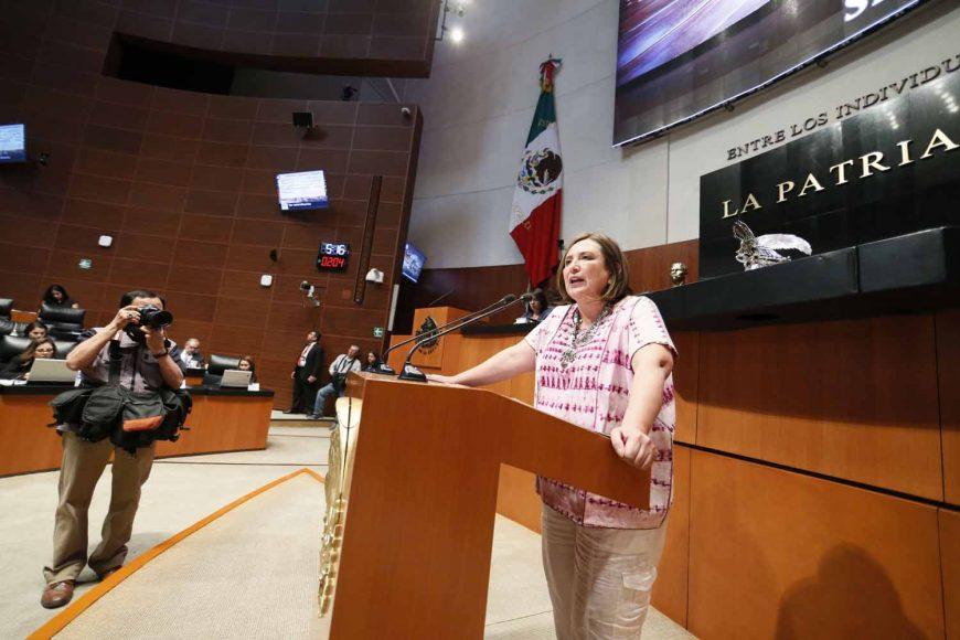 Intervención en tribuna de la senadora Xóchitl Gálvez Ruiz al referirse a un punto de acuerdo por el que se designa a Josefina Román Vergara como Comisionada del Instituto Nacional de Transparencia, Acceso a la Información y Protección de Datos Personales.