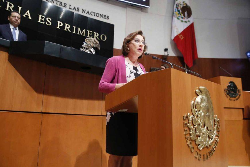 Intervención de la senadora Guadalupe Murguía Gutiérrez, al participar en la discusión de un dictamen de las comisiones unidas de Gobernación y de Estudios Legislativos, por el que se reforma la fracción X del artículo 43 de la Ley Orgánica de la Administración Pública Federal.