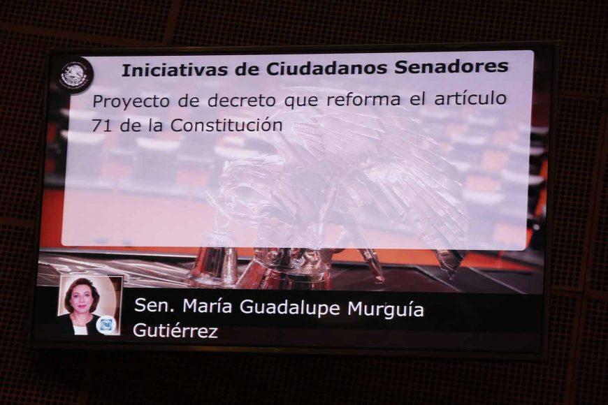 IMG_20190Intervención en tribuna de la senadora María Guadalupe Murguía Gutiérrez, al presentar iniciativa con proyecto de decreto que reforma el artículo 71 de la Constitución Política de los Estados Unidos Mexicanos.327_123938