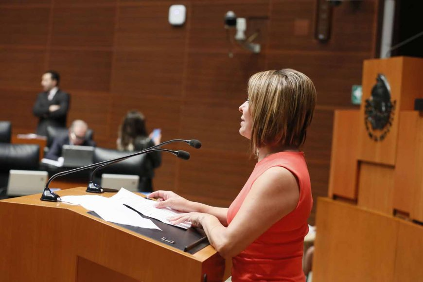 Intervención en tribuna de la senadora Minerva Hernández Ramos al presentar iniciativa con proyecto de decreto que adiciona un inciso k al artículo 72, y la fracción II bis al artículo 105 de la Constitución Política de los Estados Unidos Mexicanos.