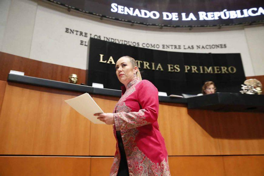 IMG_201Intervención de la senadora Alejandra Noemí Reynoso Sánchez, al presentar un punto de acuerdo que exhorta a la Secretaría de Hacienda y Crédito Público a reasignar recursos no ejercidos en partidas presupuestales, así como ahorros devueltos por el Senado de la República, a favor del programa de estancias infantiles.90327_164535