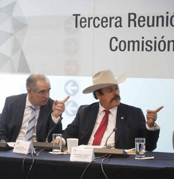 Senador Julen Rementería Del Puerto, al participar en la reunión de trabajo de la Comisión de Energía.