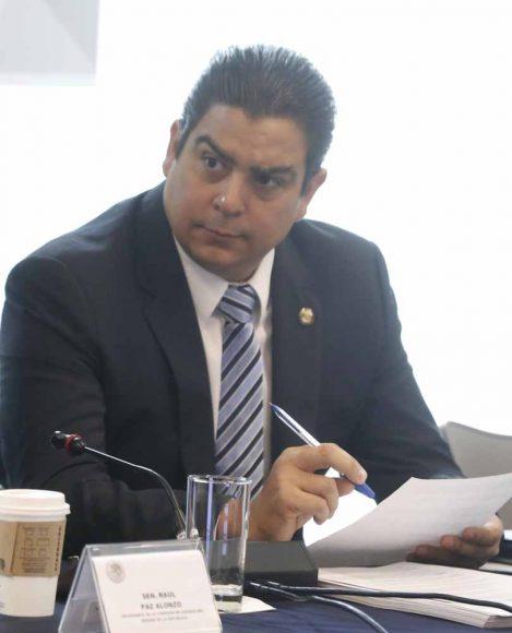Senador Ismael García Cabeza de Vaca, al participar en la reunión de trabajo de la Comisión de Energía.