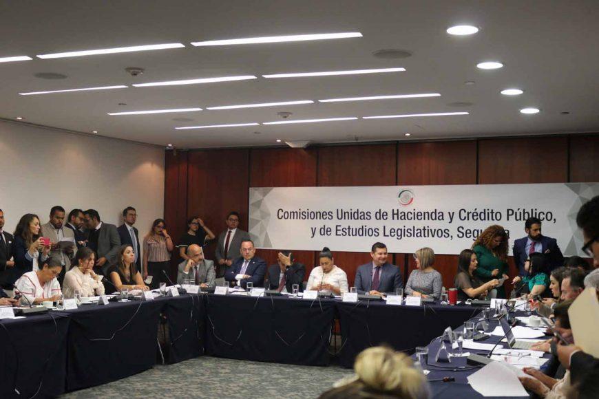 Participación de la senadora Minerva Hernández Ramos y del senador Erandi Bermúdez Méndez, durante la reunión trabajo de la Comisión de Hacienda y Crédito Público y Estudios Legislativos, segunda.