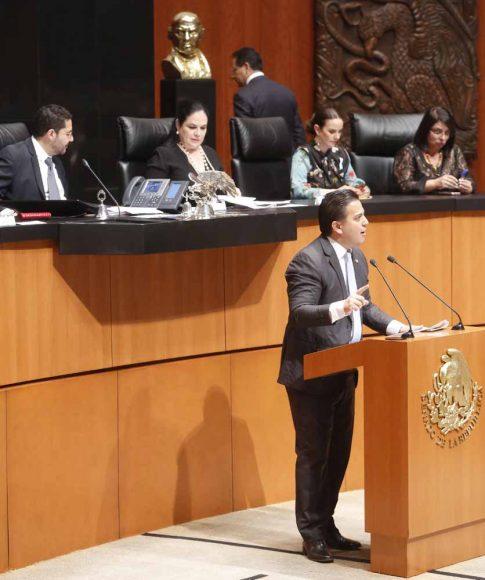 Intervención en tribuna del senador Damián Zepeda Vidales al presentar una moción suspensiva a un dictamen de la Comisión de Energía que acuerda la elegibilidad de las nuevas ternas presentadas el 26 de marzo de 2019 por el Ejecutivo Federal, para ocupar el cargo de Comisionado de la Comisión Reguladora de Energía.