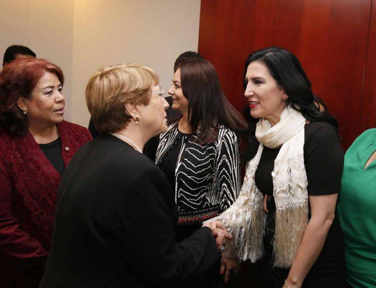 Sesión Solemne por la visita de señora Michelle Bachelet, Alta Comisionada de las Naciones Unidas para los Derechos Humanos, Kenia López Rabadán