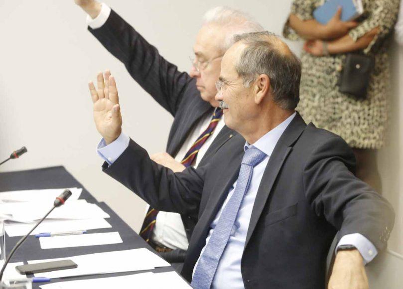 Senador Gustavo Madero Muñoz, al participar en la reunión de la Comisión de Relaciones Exteriores, América Latina y el Caribe