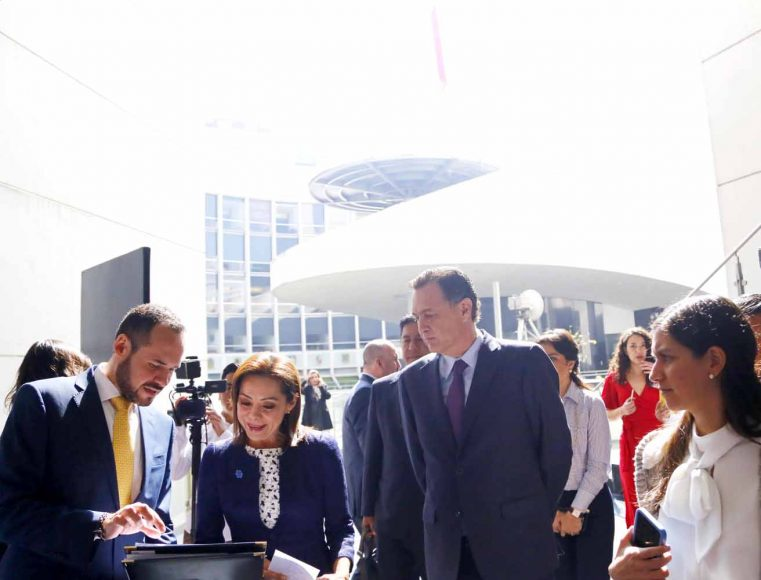 Senadora Josefina Vázquez Mota durante la inauguración Tómate Comex