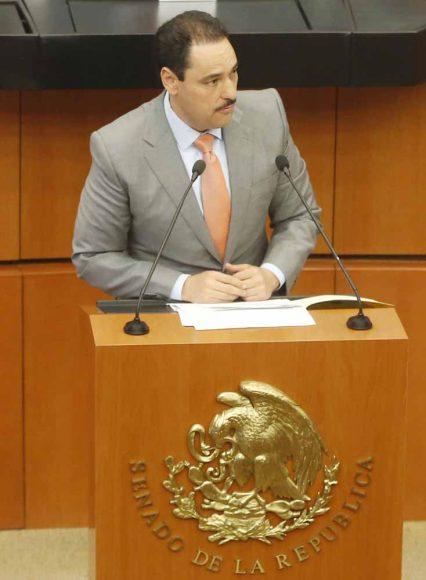 Intervención del senador Juan Antonio Martín del Campo durante la comparecencia del Secretario de Comunicaciones y Transportes, Javier Jiménez Espriú, ante la Comisión del ramo.