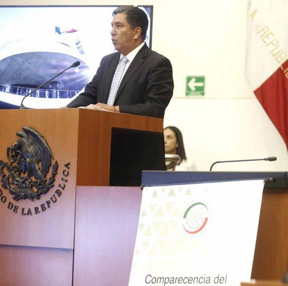 Intervención del senador Marco Antonio Gama Basarte durante la comparecencia del secretario de Comunicaciones y Transportes, Javier Jiménez Espriú, ante la Comisión del ramo.
