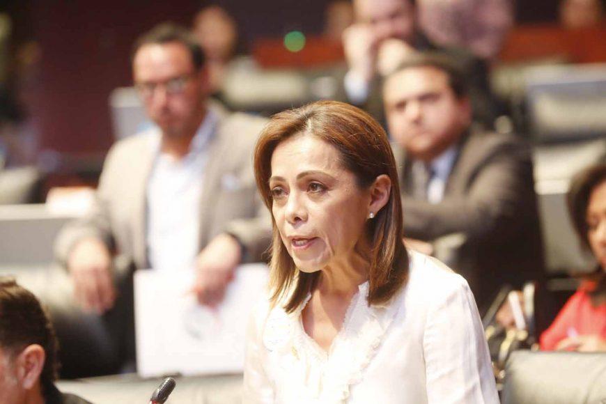 Intervención desde su escaño de la senadora Josefina Vázquez Mota para referirse a los hechos ocurridos en la Comisión de Seguridad Pública.